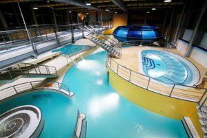 Pohled na atrakce kladenského aquaparku