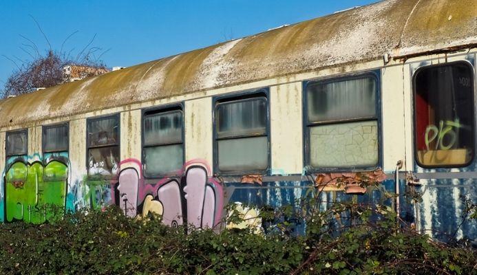 Graffitti Kladno nádraží
